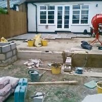 Garden construction work