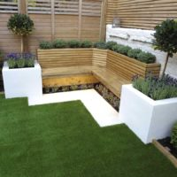 Garden seating area Clapham