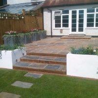 Large patio garden area