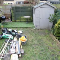 Garden in process of being upgraded