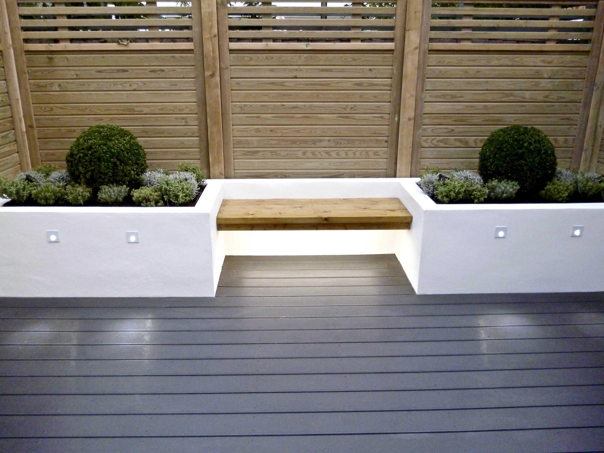 Rendered white seating area Cobham